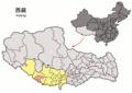 Location of Gyirong within Xizang (China).png