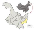 Location of Jixi Prefecture within Heilongjiang (China).png