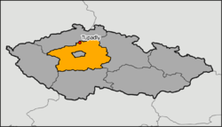 Location of Tupadly within the Central Bohemian Region.png