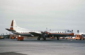 American Airlines Flight 320 - An American Airlines Lockheed L-188A Electra, similar to the aircraft involved in the incident