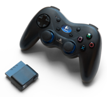 Logitech Cordless Action PlayStation 2 Controller with transceiver dongle