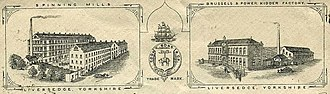 Healds Hall - Logo for Cooke, Sons and Co, 1890