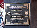 Lombardi's Pizza (Manhattan, New York) plaque 01.jpg