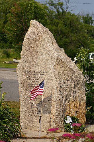 South Portland, Maine - Long Creek Air Tragedy Memorial.