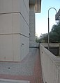 Looking S along 10th Street NW at dry moat - J Edgar Hoover Building - Washington DC - 2012.jpg