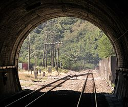 Looking out the west portal of the Central Tunnel retouched.jpg