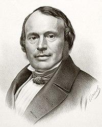 Exemple de lithographie: Portrait de Louis Agassiz