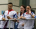 Louis Smith and Beth Tweddle at Our Greatest Team Parade.jpg