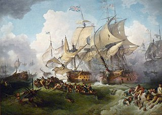 Glorious First of June naval battle of the French Revolutionary Wars