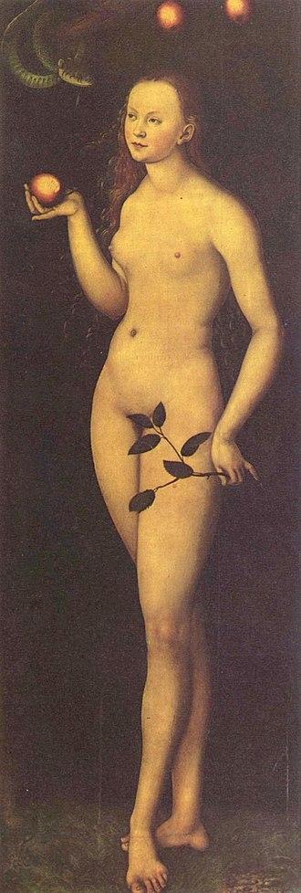Women in the Bible - Eva by Lucas Cranach the Elder (1528)