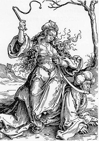 Power of Women - Phyllis Riding Aristotle, Lucas van Leyden
