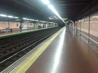 Lucero (Madrid Metro) - Image: Lucero Metro Madrid