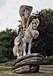 Lucky Luke statue in parc Reine Astrid, Charleroi (DSCF7707).jpg
