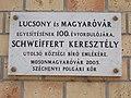 Lucsony és Magyaróvár egyesülésének 100. évfordulójára emléktábla, Lucsony utca 2, 2017 Mosonmagyaróvár.jpg