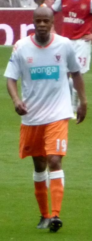 Ludovic Sylvestre - Sylvestre playing for Blackpool in 2010