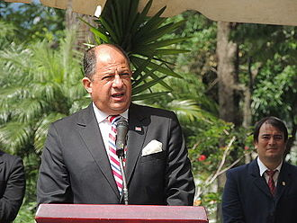 Luis Guillermo Solís - Solís speaking in 2014