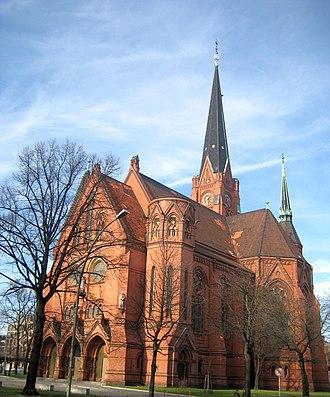American Church in Berlin - Luther Church on Dennewitzplatz, seen from southeast.