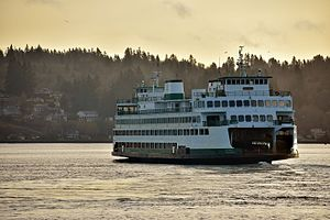 MV Hyak - The Hyak departs Bremerton with her 9:45 AM sailing to Seattle.