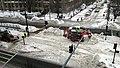 MBTA work crews clearing Granby Street crossing (1), February 2015.jpg