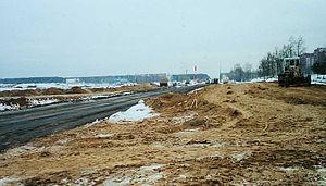 MKAD (Minsk) - Road reconstruction in Kurapaty.