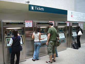 Fares and ticketing on the Mass Rapid Transit (Singapore) - General Ticketing Machines by Cubic (2002–2013).