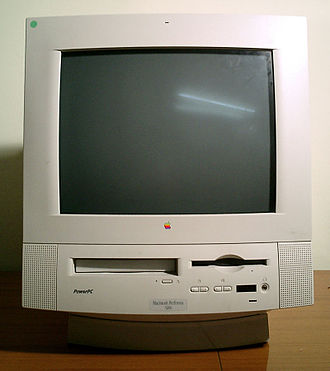 Macintosh Performa - The Macintosh Performa 5200, an all-in-one desktop; the display and all other components comprise a single unit
