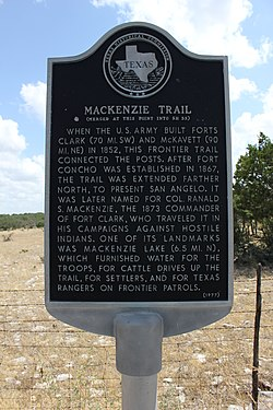 Mackenzie trail, edwards county, texas historical marker (7897273366)