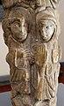 Maestro di cabestany, fusto scolpito, forse da un fonte battesimale, 1150-1200 ca, alabastro calcareo, da oratorio della pieve vecchia di sugana 02.JPG