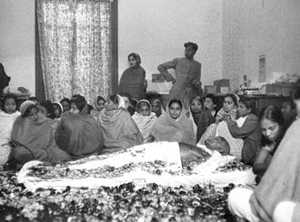 Lying in state - Mahatma Gandhi lying in state