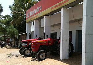 Mahindra Tractors - Mahindra Tractors at a Showroom in 2012 near Chengalpattu in Tamil Nadu