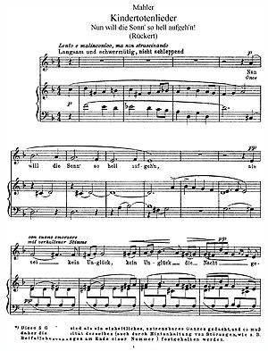 English: Mahler Kindertotenlieder01