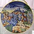Maiolica di urbino, ercole, deianira e nesso, 1550-74.jpg