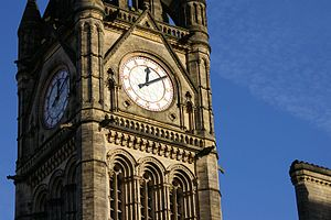 Gillett & Johnston - Image: Manchester Town Hall Tower