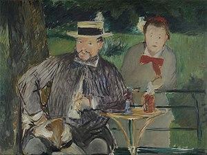 Ernest Hoschedé - Édouard Manet, Ernest Hoschedé with his daughter Marthe, 1876, Museo Nacional de Bellas Artes, Buenos Aires