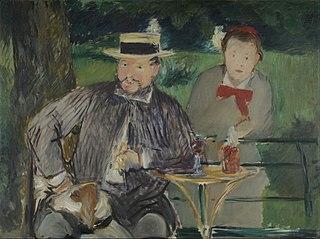 Portrait d'Ernest Hoschedé et sa fille Marthe
