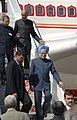Manmohan Singh arrived at John F Kennedy Airport in New York on his visit to the United States,. The Indian Ambassador, Shri Ronen Sen and the Ambassadorpermanent Representative of India at United Nation .jpg