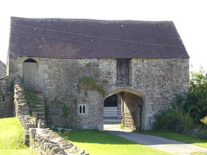 Whatley, Mendip - Image: Manor Farmhouse Gatehouse, Whatley (Somerset, 2007)