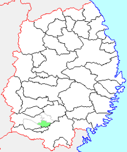 Location of Maesawa in Iwate Prefecture