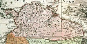 New Kingdom of Granada - Old map of Tierra Firme, showing the initial divisions of the region