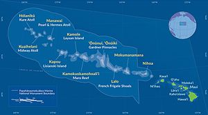 Papahānaumokuākea Marine National Monument - Image: Map PMNM 2016