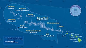 Papahānaumokuākea Marine National Monument - Image: Map PMNM 2016