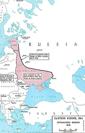Map Treaty of Brest-Litovsk-en