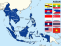 Map and flag of ASEAN countries.png