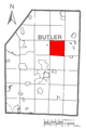 Map of Concord Township, Butler County, Pennsylvania Highlighted.png