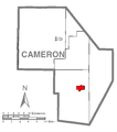 Map of Driftwood, Cameron County, Pennsylvania Highlighted.png