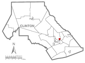 Map of Dunnstown, Clinton County, Pennsylvania Highlighted.png