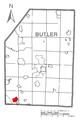 Map of Fox Run, Butler County, Pennsylvania Highlighted.png