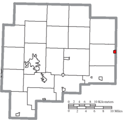 Location of Fairview in Guernsey County
