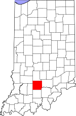 Map of Indiana highlighting Lawrence County.svg