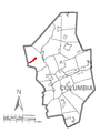 Map of Jerseytown, Columbia County, Pennsylvania Highlighted.png